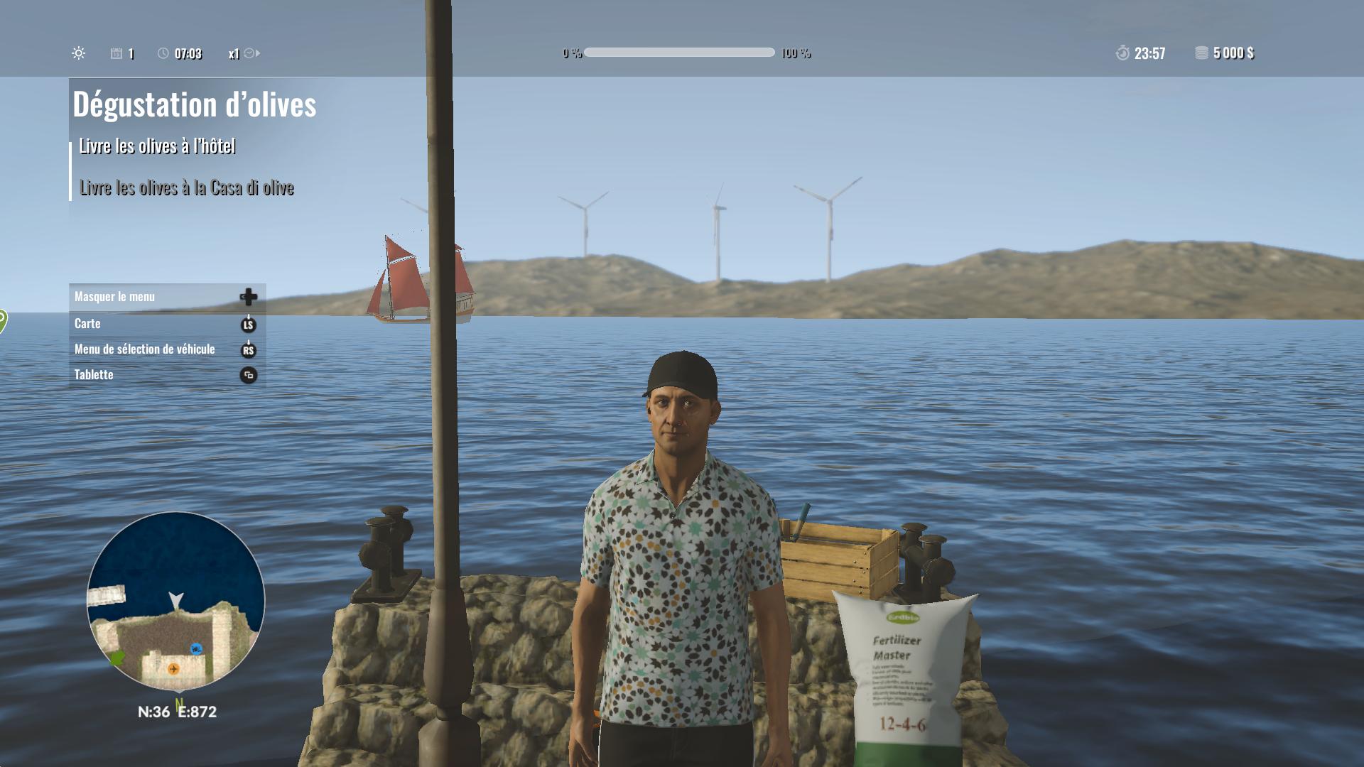 Jeune fermier devant la mer
