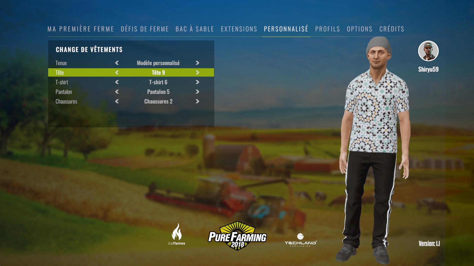 personnalisation du fermier
