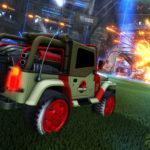 Rocket League, c'est l'heure de partir à la chasse aux buts avec le Jurassic World Car Pack
