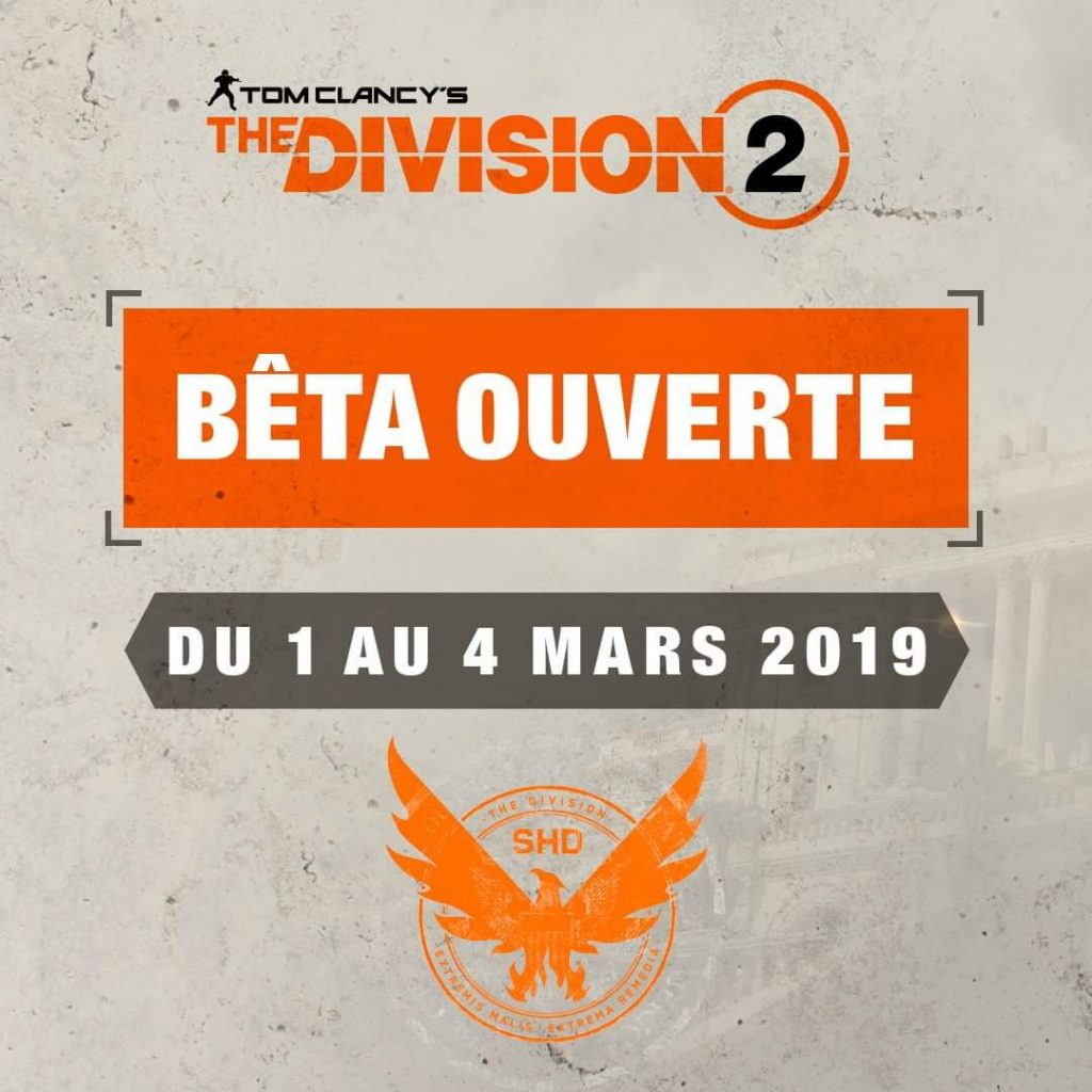 Beta Ouverte The Division 2