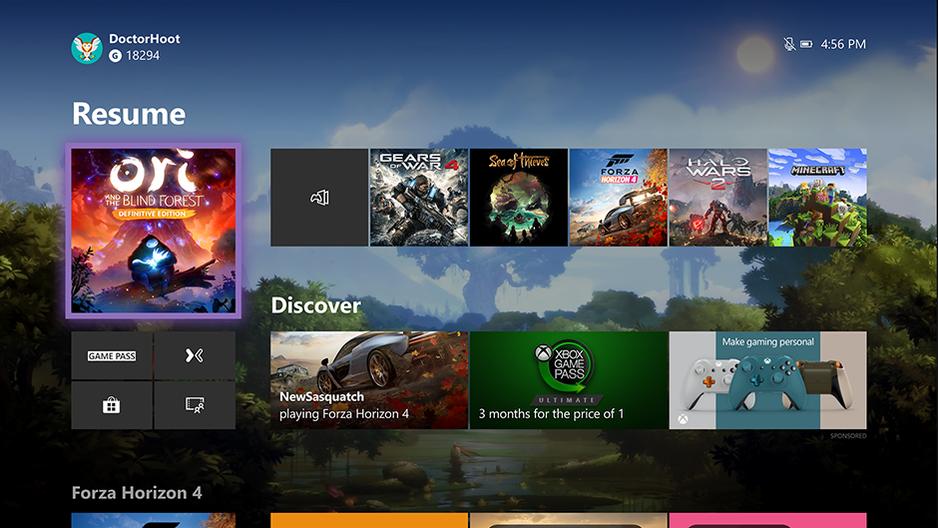 Microsoft expérimente une nouvelle interface d'accueil — Xbox One
