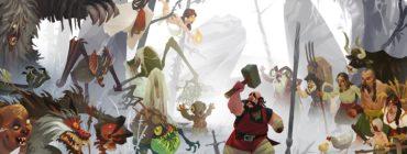 Ivan et les villageois font face à des monstres
