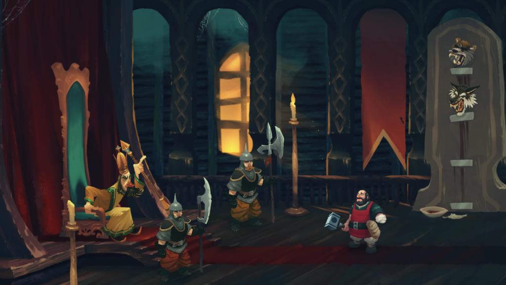 Ivan face au Tsar dans la salle du trône