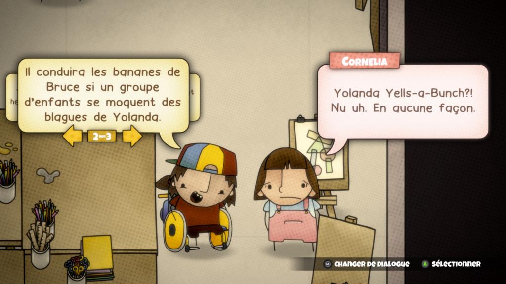 Cardpocalypse - dialoque entre Jess et Cornelia