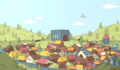 Hidden Through Time - Vue d'un villagé médiéval