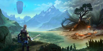 Soulborn - Héros faisant face à un dragon