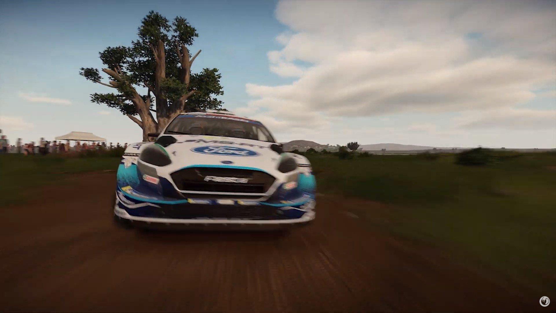 WRC-9-Gameplay-Trailer-Safari-Rally-Ford-Fiesta-Course-Face