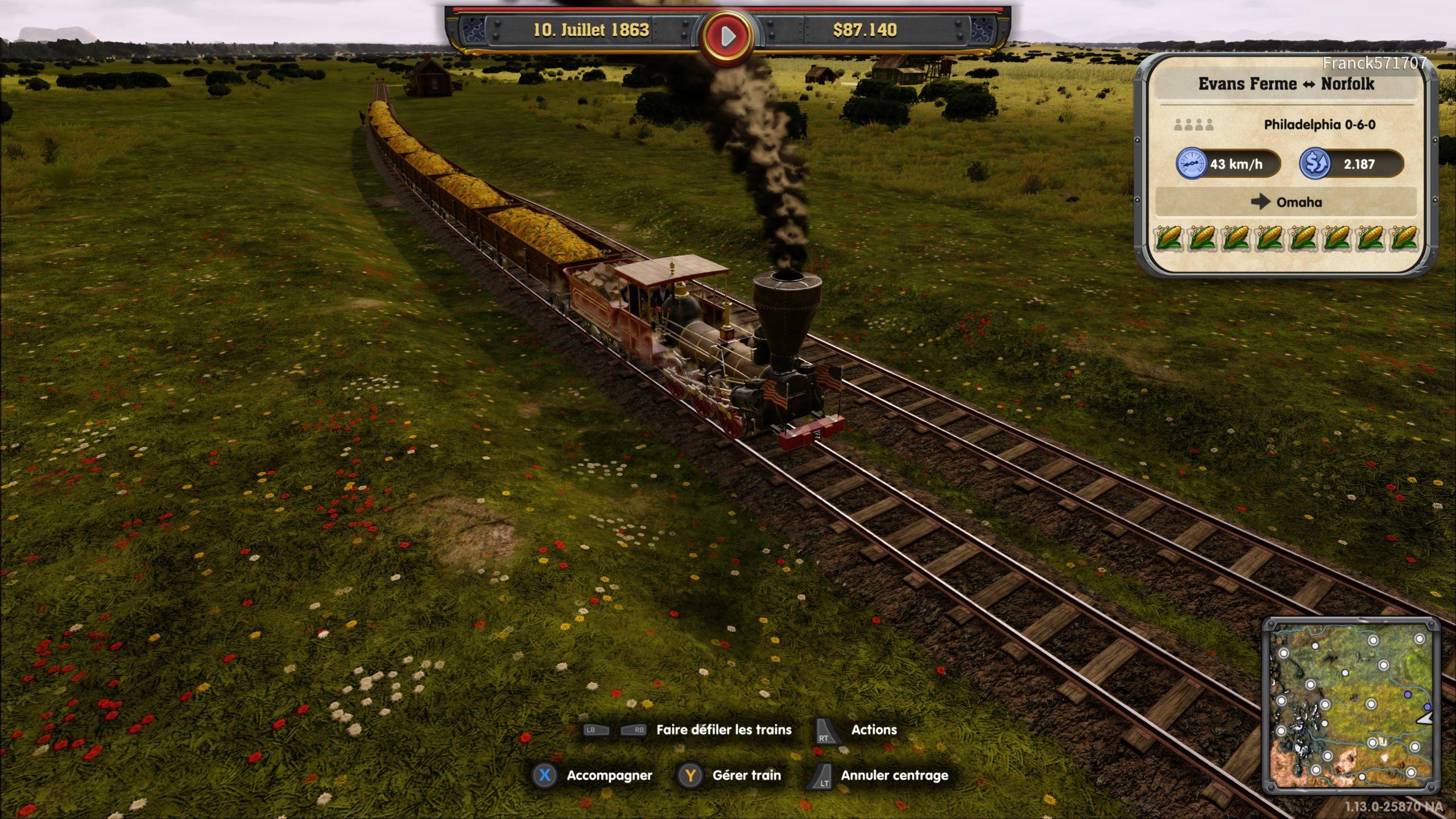Railway-Empire-Complete-Collection-Etats-Unis-Campagne-Chargement-Maïs