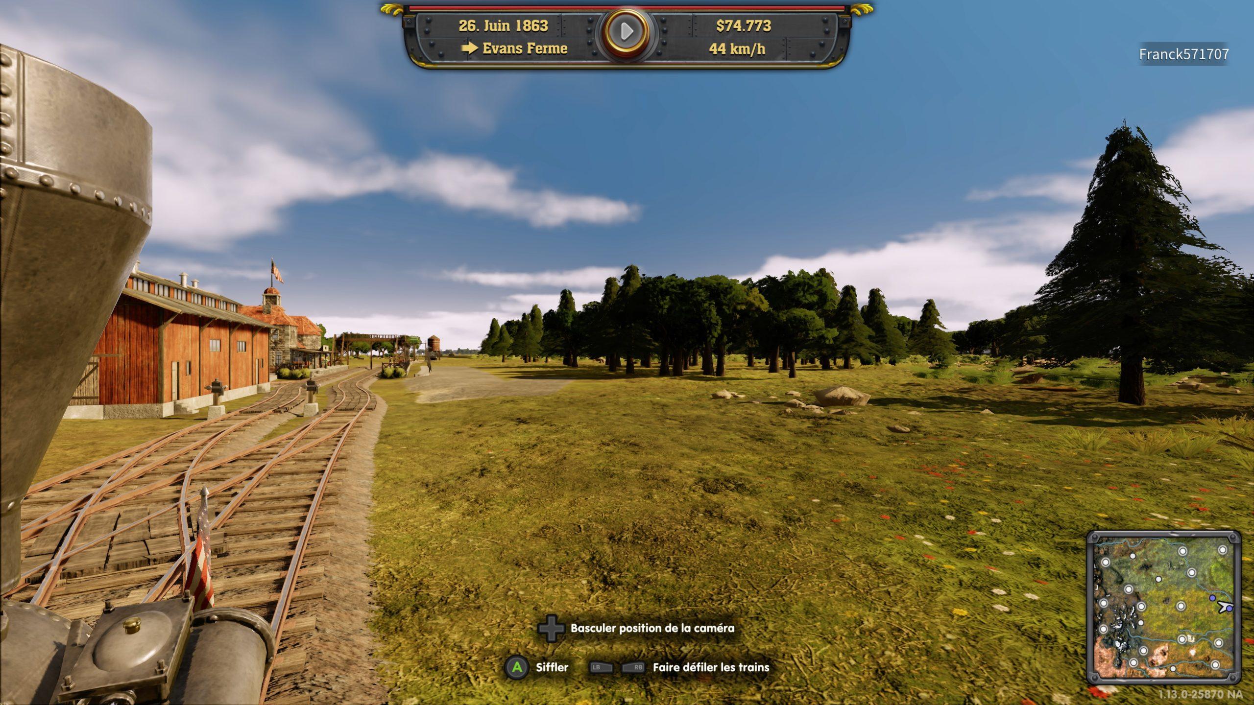 Railway-Empire-Complete-Collection-Etats-Unis-Campagne-Vue-Embarquée-Locomotive