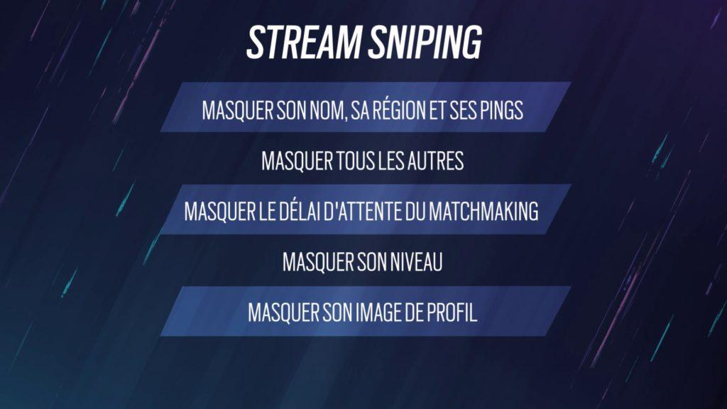 Le mode Streamer empêchera des tricheurs d'espionner les joueurs qui diffusent leurs partie