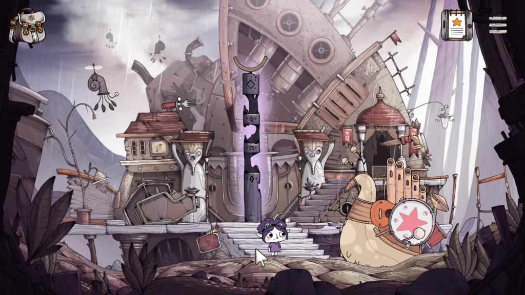 Tohu - La fillette fait face à un escargot-orgue