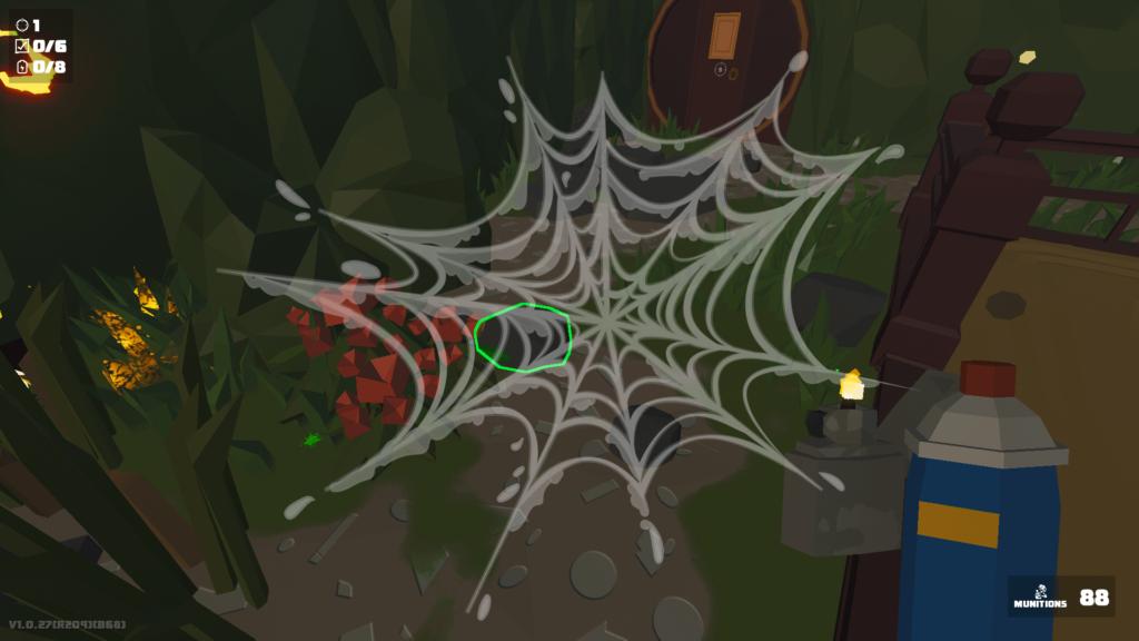 Kill It With Fire - Champ de vision envahi par une toile d'araignée