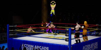 action-arcade-wrestling-ring-catcheur-volant