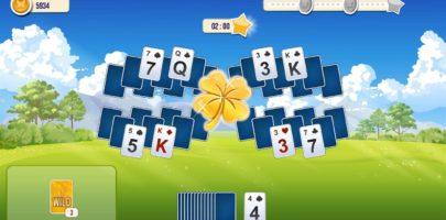 solitaire-tripeaks-flowers-cartes-trefle-dore