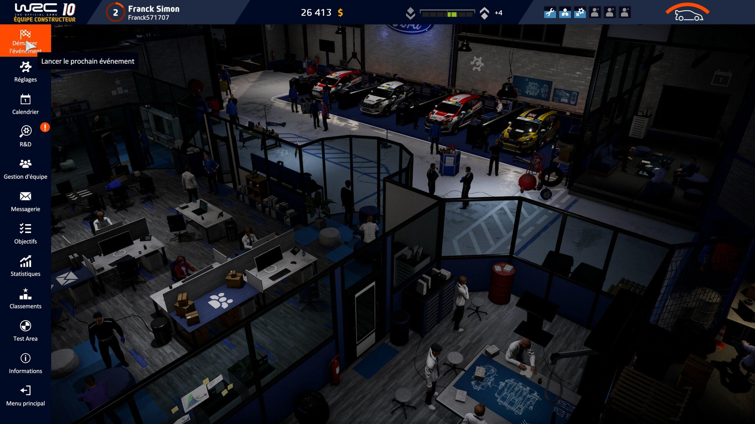 WRC-10-Gameplay-Carrière-Garage