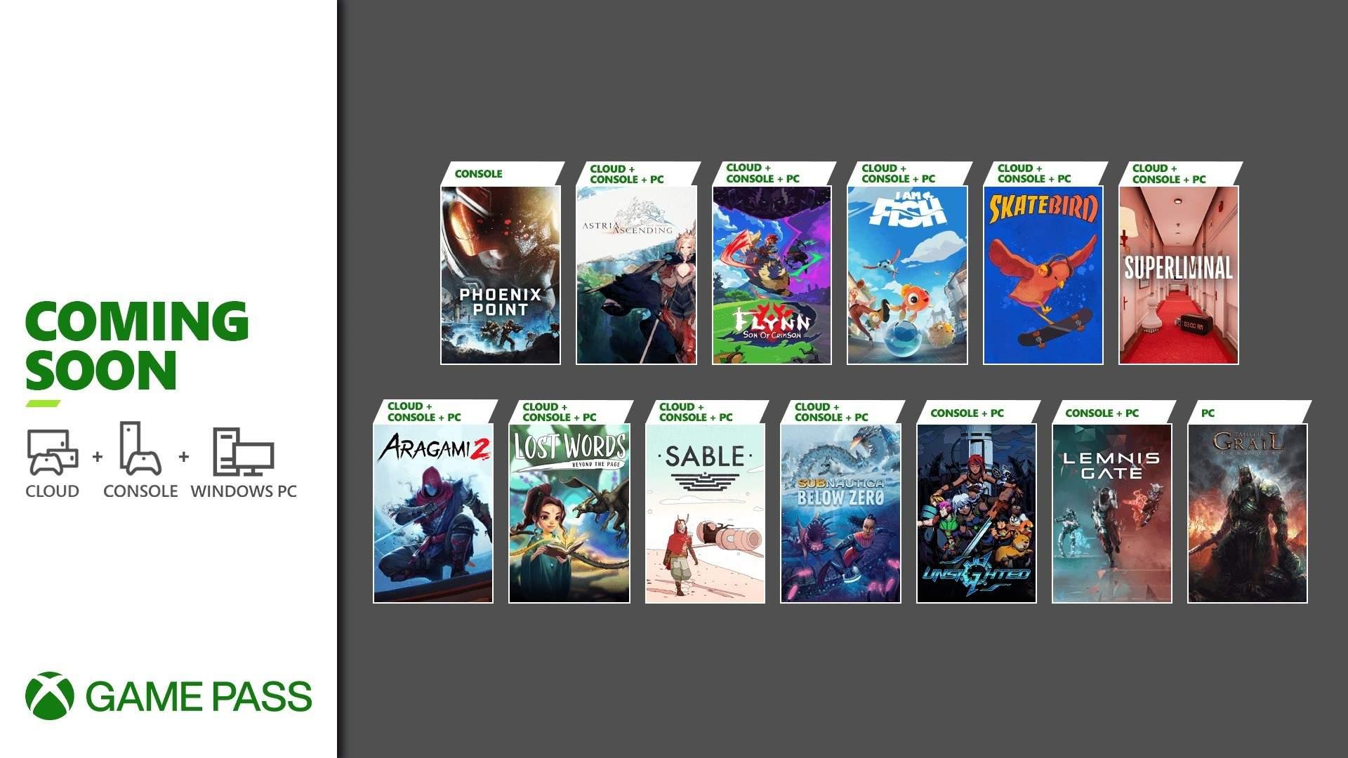 Xbox Game Pass les 13 jeux de septembre